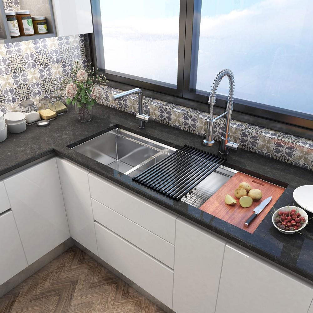 inovasi wastafel cuci piring dan talenan desain dapur