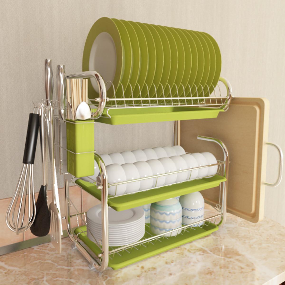 12 Desain Rak Piring Kitchen Set Kekinian - Karadecora.com