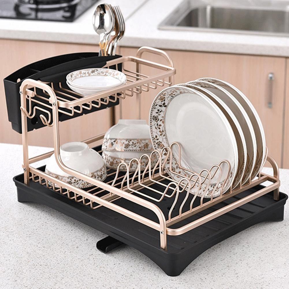 rak piring kitchen set stainless dengan dekorasi dapur vintage
