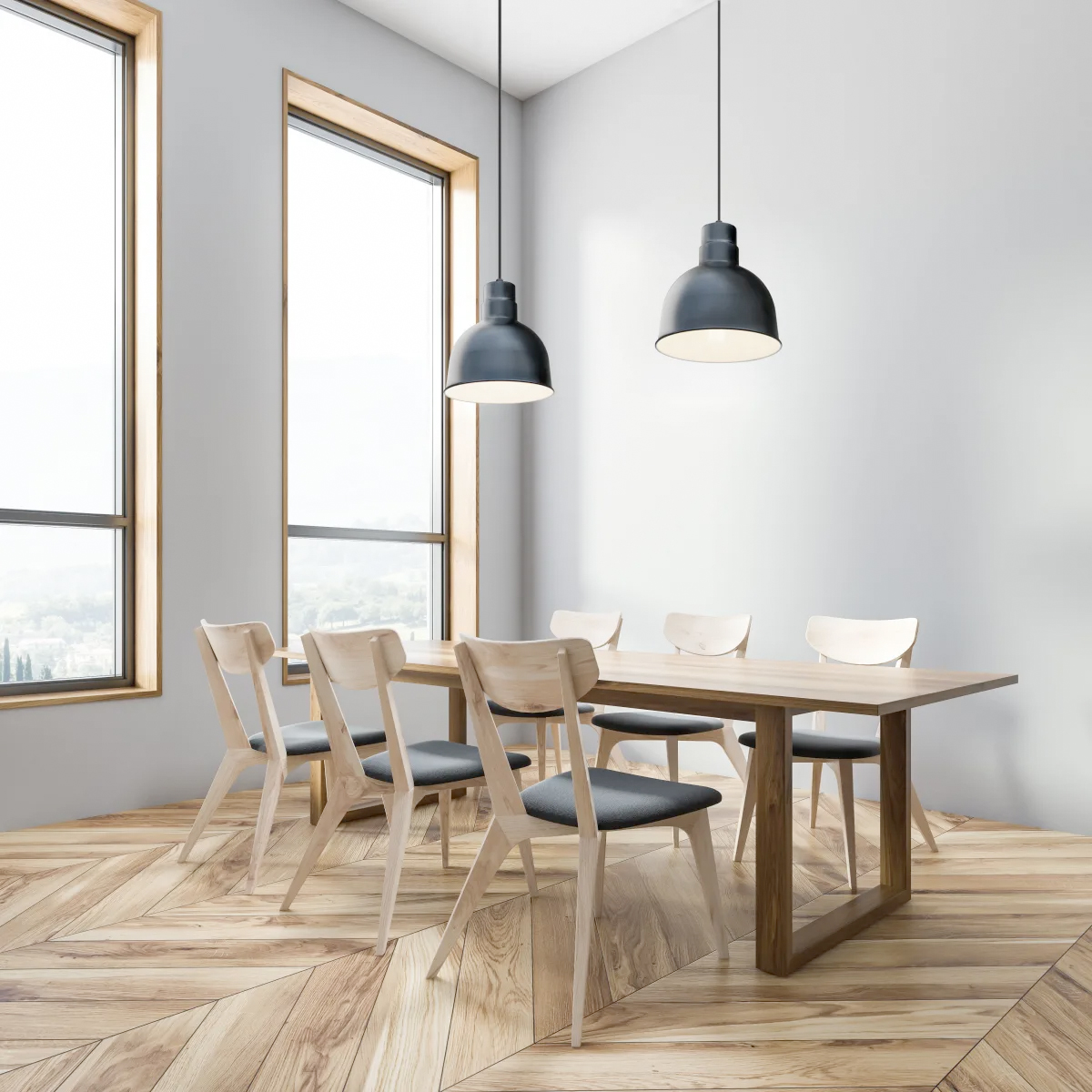 lampu dapur minimalis model gantung hitam