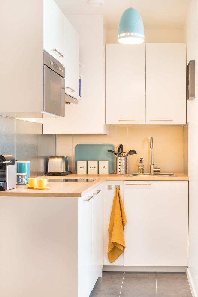 dekorasi dapur minimalis model scandinavian warna putih