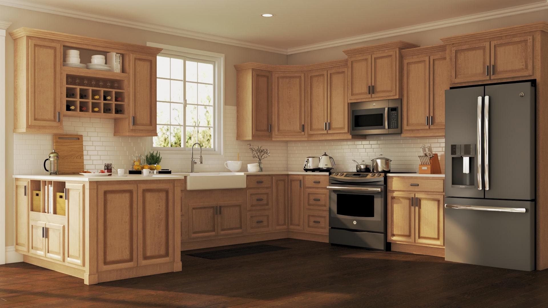 desain dapur dan lemari bergaya vintage