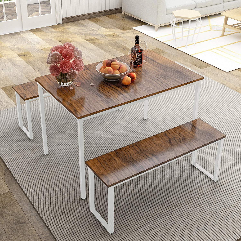 desain dapur minimalis dengan meja besi atasnya kayu
