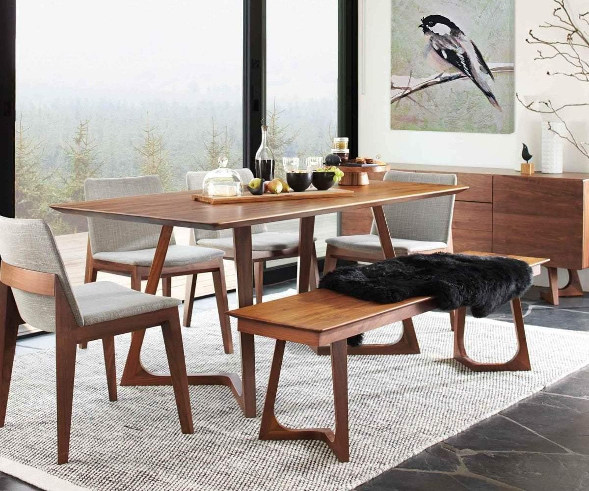 desain meja dapur kayu model skandinavian yang alami