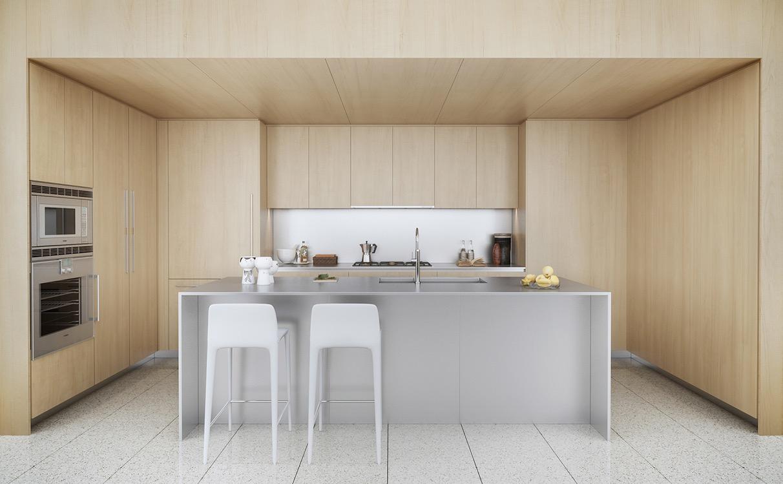 kabinet dapur kayu bahan laminasi