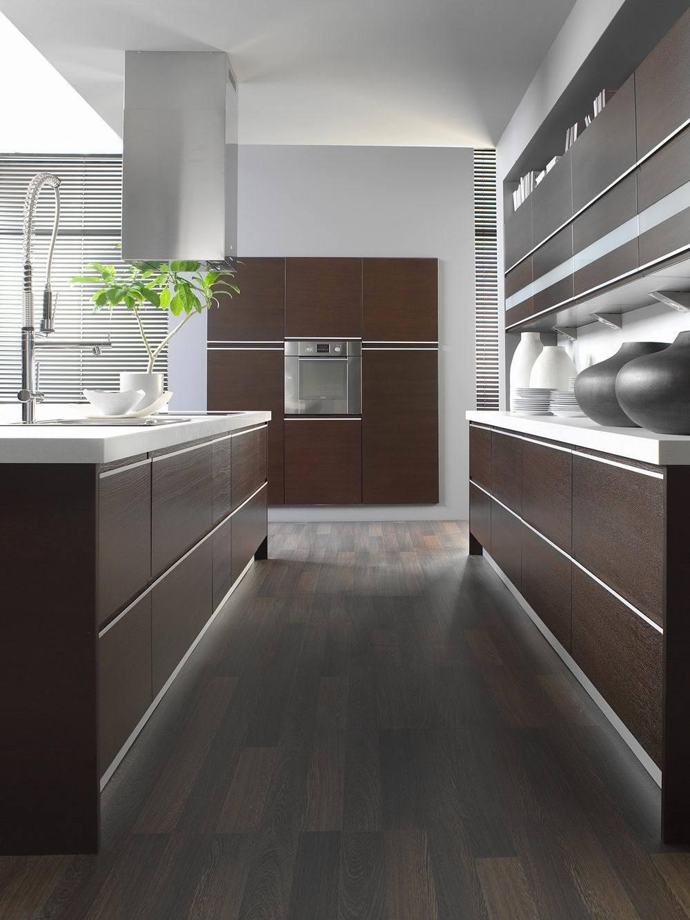 kabinet dapur kayu veneer