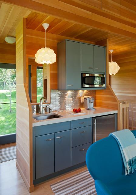 kombinasi warna yang cantik dapur minimalis