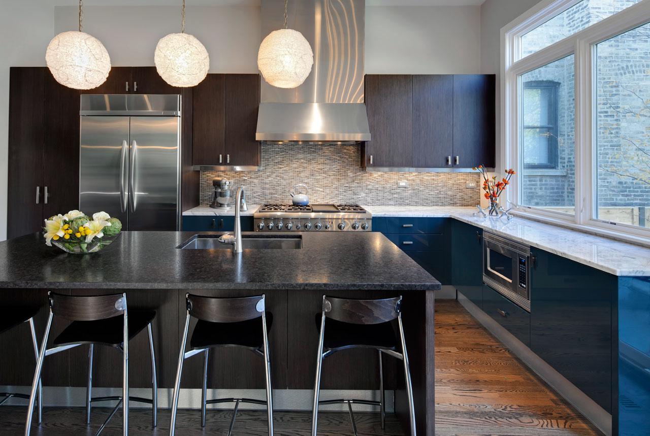konsep desain dapur minimalis dengan lampu dapur elegan