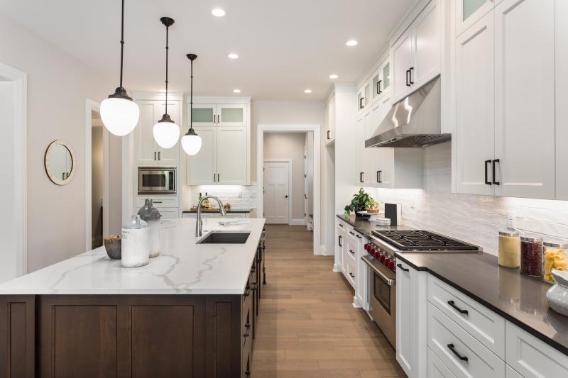 lampu minimalis kitchen set