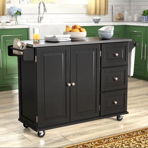 lemari dapur bahan PolyViryl Chloride warna hitam material lapisan plastik