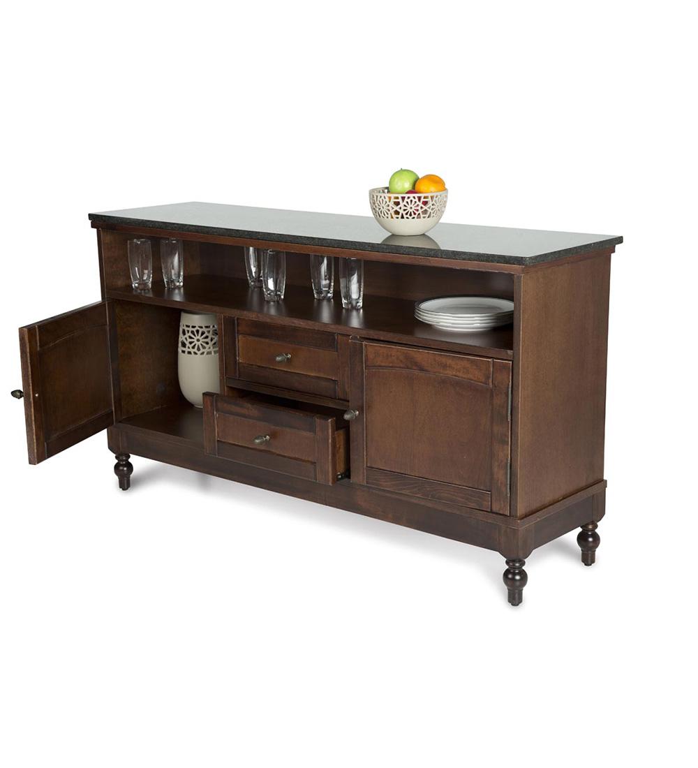 lemari dapur kayu klasik untuk dapur yang kecil