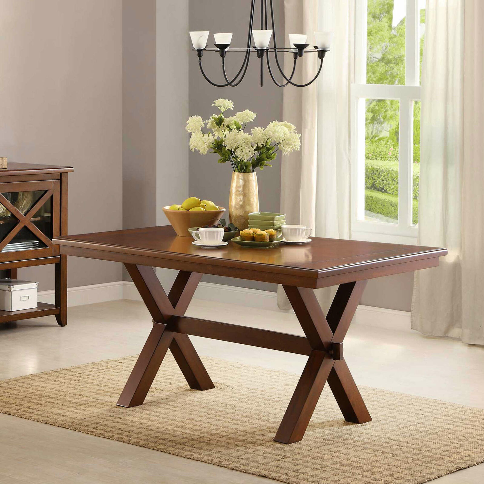 meja makan kayu dekorasi ruang makan dan meja dapur mini tanpa kursi