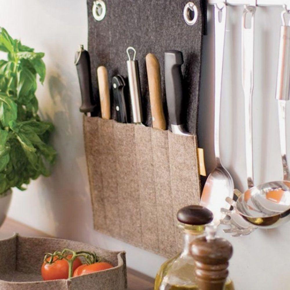 tempat pisau dapur gantung dari kain