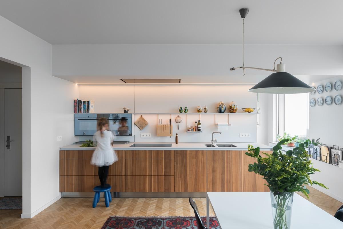 desain dapur minimalis modern dan rak dinding dapur kayu
