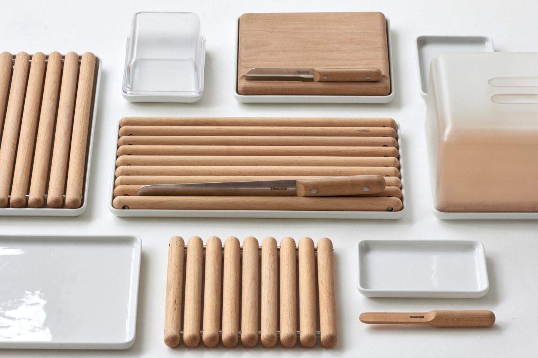 peralatan dapur kayu yang unik dan minimalis